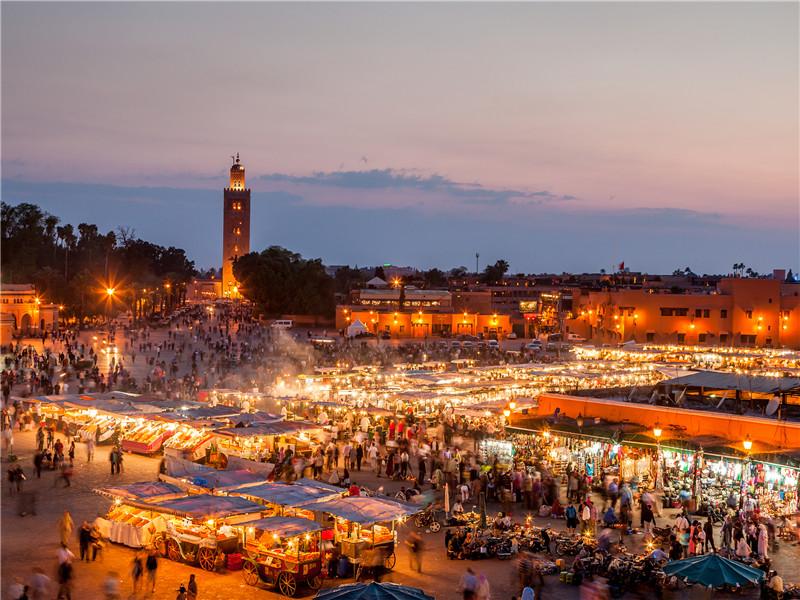 非洲+摩洛哥+马拉喀什+库图比亚清真寺+COGS0000006484+视觉中国+RF+VCG41496667645_?#21271;?jpg